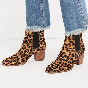 Madewell The Regan Boot in Leopard Calf Hair